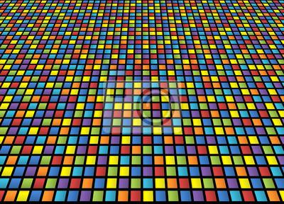 cc37eac0224d Sfondo una quadretti colorati con distorsione dipinti da parete ...
