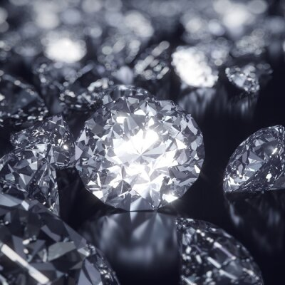Quadro Shiny Diamonds sfondo