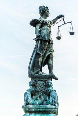 Quadro Signora giustizia a Francoforte