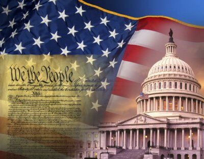 Quadro Simboli patriottici - Stati Uniti d'America
