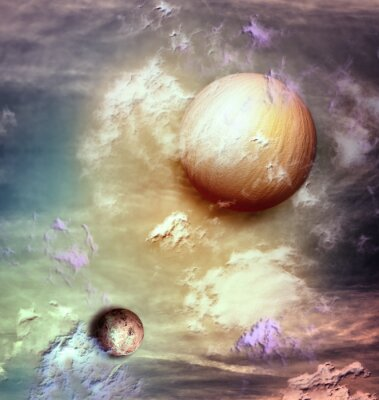 Quadro Sky with planets
