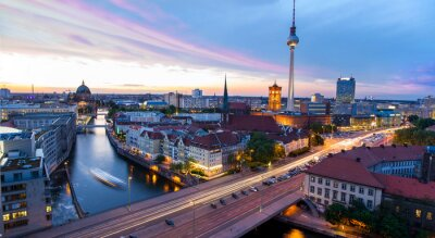 Quadro Skyline di Berlino, Blick auf den Alexanderplatz