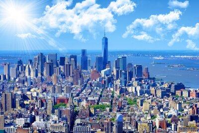 Quadro skyline di Manhattan