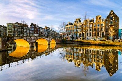 Quadro Soleggiato mattina a Amsterdam, Paesi Bassi