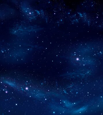 Quadro spazio profondo, astratto sfondo blu