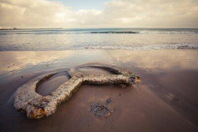 Quadro Spiaggia vuota della città di Tangeri, Marocco