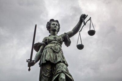 Quadro Statua di giustizia a Francoforte am Main