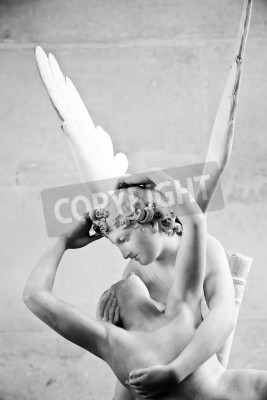 Quadro Statua Psiche di Antonio Canova Revived di Kiss di Cupido, prima commissionata nel 1787, esemplifica la devozione all'amore neoclassico ed emozione
