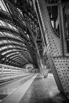Quadro Stazione Centrale di Milano - Binario