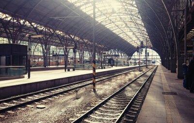Quadro Stazione centrale di Praga, Repubblica Ceca.