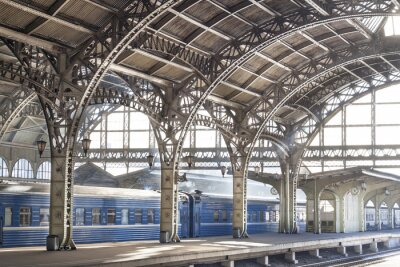 Quadro Stazione ferroviaria metallo