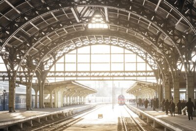 Quadro Stazione ferroviaria Vintage con tetto in metallo