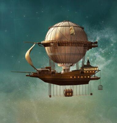 Quadro Steampunk dirigibile di fantasia