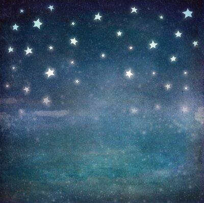 Quadro Stelle in cielo notturno grunge, fondo