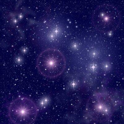 Quadro stelle luminose nello spazio profondo