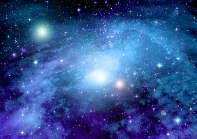 Quadro Stelle, polveri e gas nebulosa