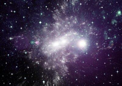 Quadro Stelle, polveri e gas nebulosa in una galassia lontana