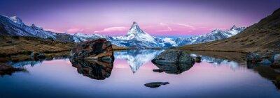 Quadro Stellisee in Svizzera con il Cervino sullo sfondo Panorama