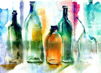 Quadro Still life di varie bottiglie