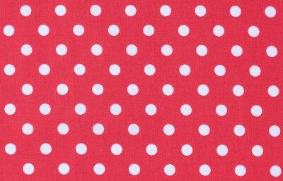 Quadro Stoff Rot Weiß trama Punktmuster