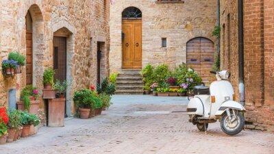 Quadro Strade italiane nella piccola cittadina toscana e un popolare singolo-tr