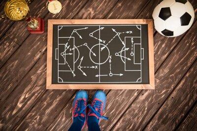 Quadro strategia di gioco di calcio