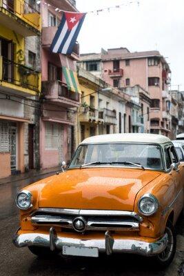 Quadro Street scene in giorno di pioggia a L'Avana, Cuba