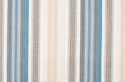 Quadro Striped pattern tessili blu e marrone come sfondo. Primo piano su diverse bande verticali di tessuto materiale texture.