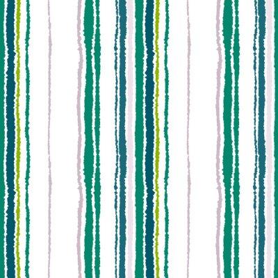 Quadro striscia modello trasparente. Le linee verticali con effetto carta strappata. sfondo bordo distruggere. Vettore