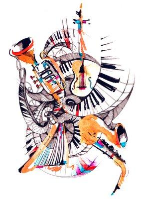 Quadro strumenti musicali