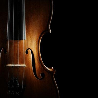 Quadro Strumenti musicali violino orchestra