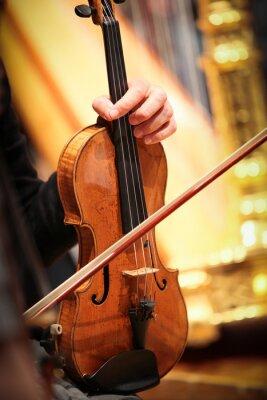 Quadro strumento violon à vent musique classique symphonique corde
