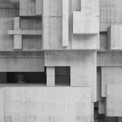 Quadro strutture in cemento astratto, sfondo piazza