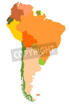 Quadro Sud America- mappa dettagliata