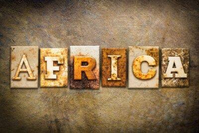 Quadro Sudafricana Concetto Letterpress Leather Theme