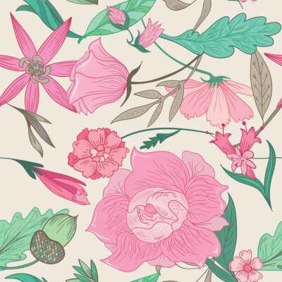 Quadro Summer Pattern in Pale Colors