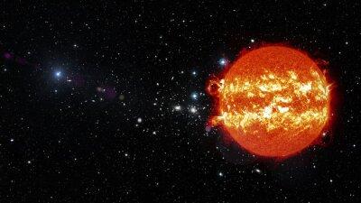 Quadro Sun nello spazio. Elementi di questa immagine fornita dalla NASA