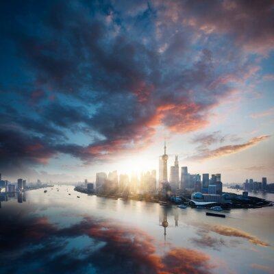 Quadro sunrise città