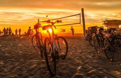 Quadro sunset beach volley al beach venice