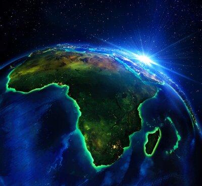 Quadro superficie in Africa, la notte