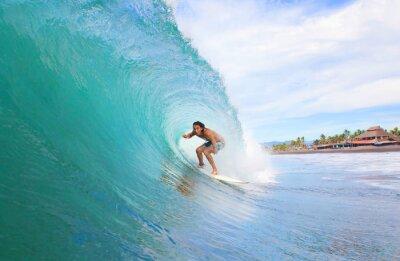 Quadro Surfer in un tubo