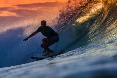 Quadro Surfista su Amazing onda