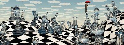 Quadro Surreale Chess Paesaggio