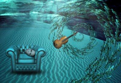 Quadro Surreale scena subacquea