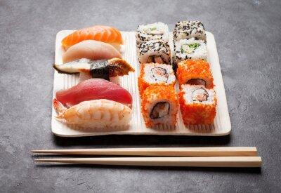 Quadro Sushi e maki set