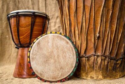 Quadro tamburi djembe fatti a mano