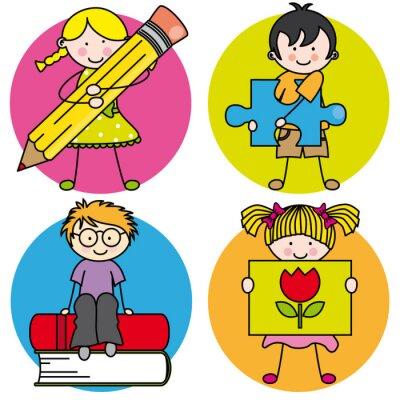 Quadro Tarjeta aprender un pintar, escribir, leer, jugar