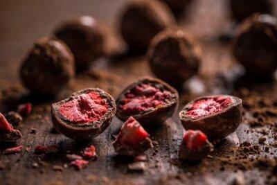 Quadro tartufi al cioccolato fondente