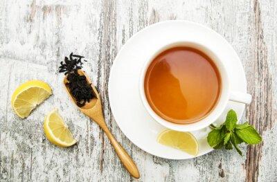 Quadro Tazza di tè con il limone e menta
