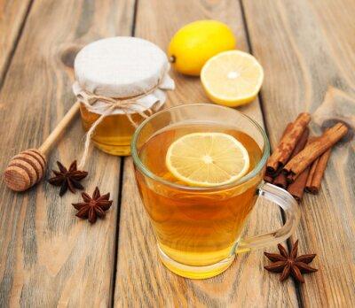Quadro Tazza di tè con il miele